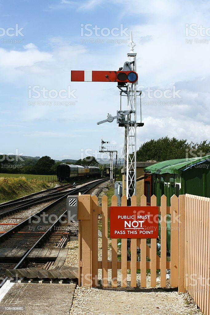 Railway Signal royalty-free stock photo