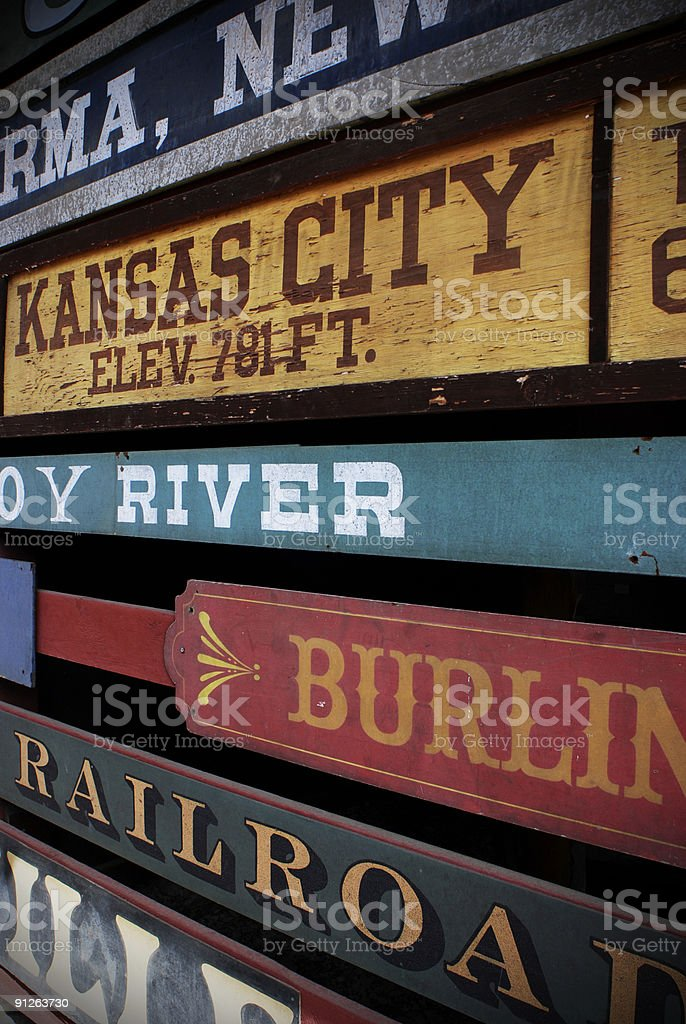 Railway signs royalty-free stock photo