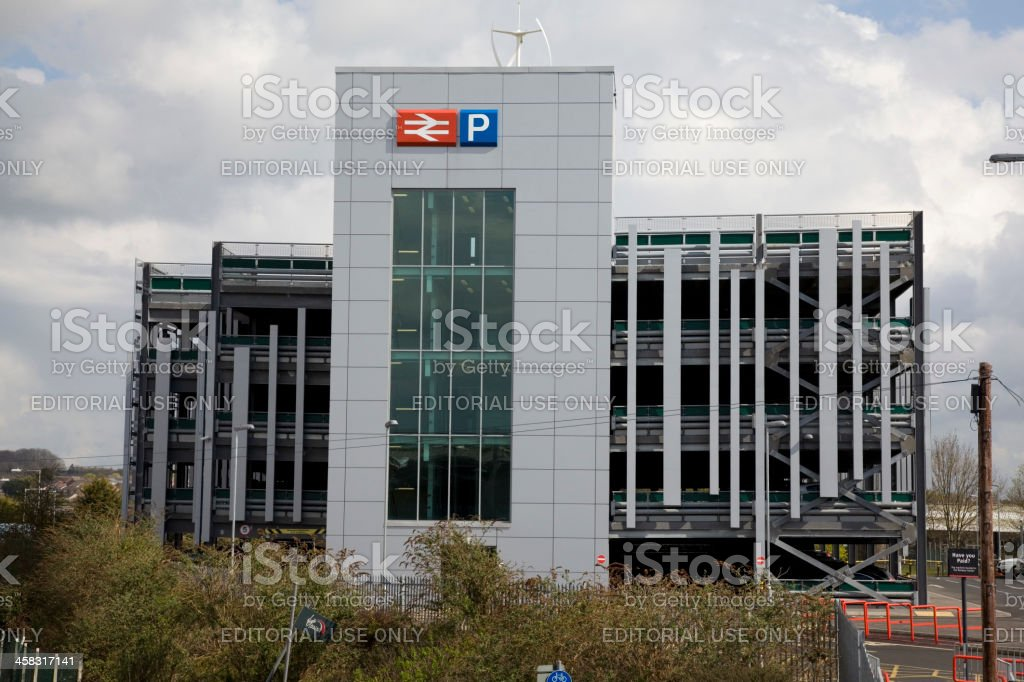 Railway Staition Multi Story Car Park royalty-free stock photo