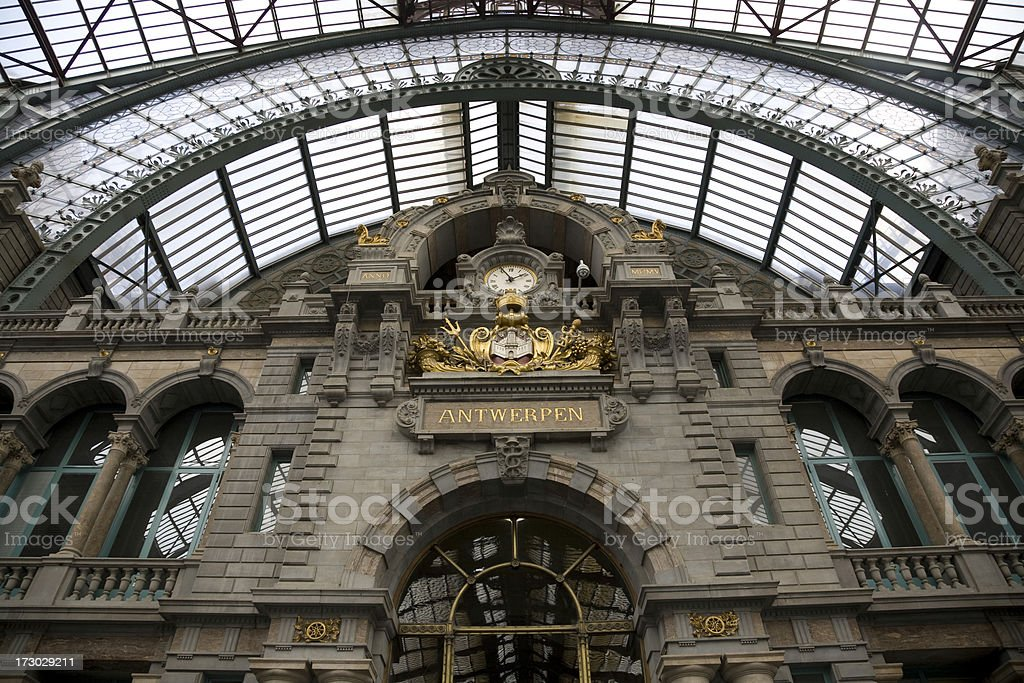 Railway station Antwerp royalty-free stock photo