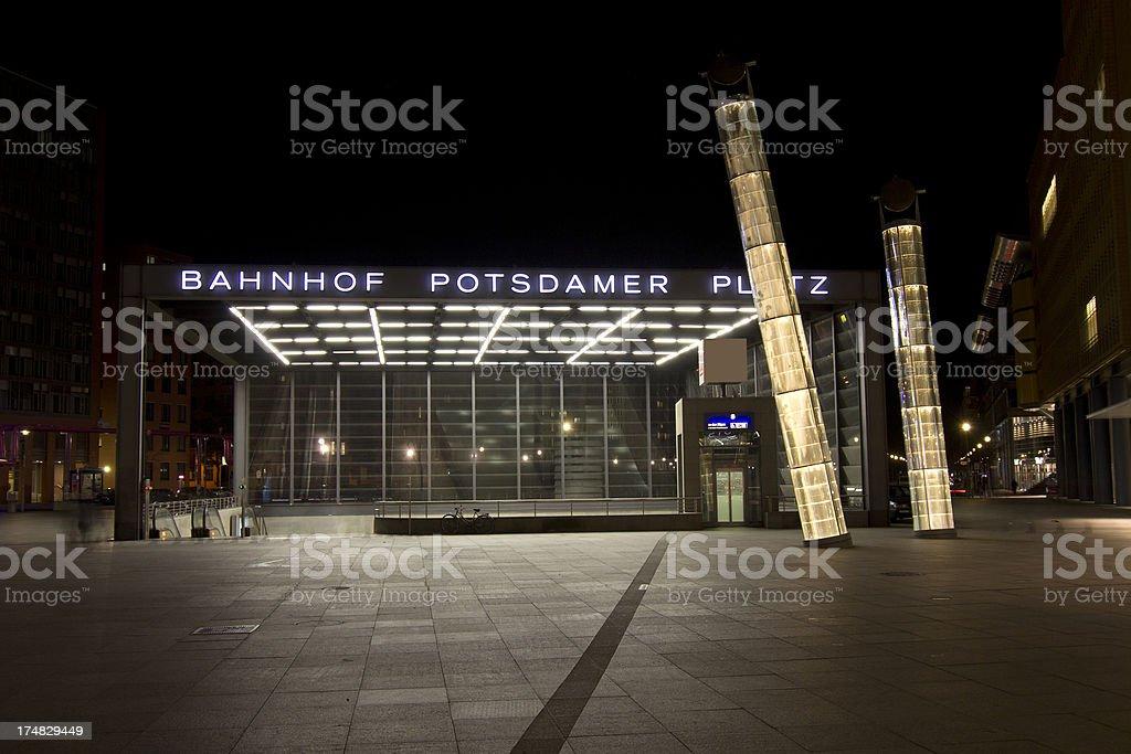 Railway Station Berlin Potsdamper Platz royalty-free stock photo