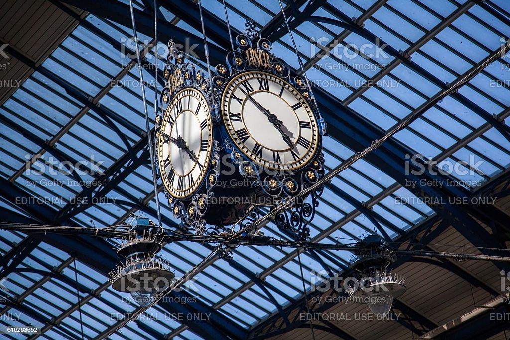 Railway Station Clock stock photo