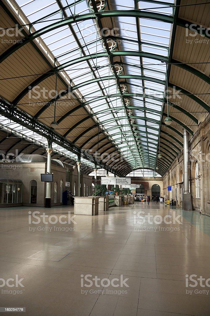 Railway station concourse royalty-free stock photo