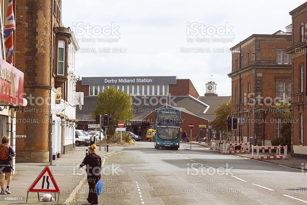 Railway station Derby Midlands royalty-free stock photo