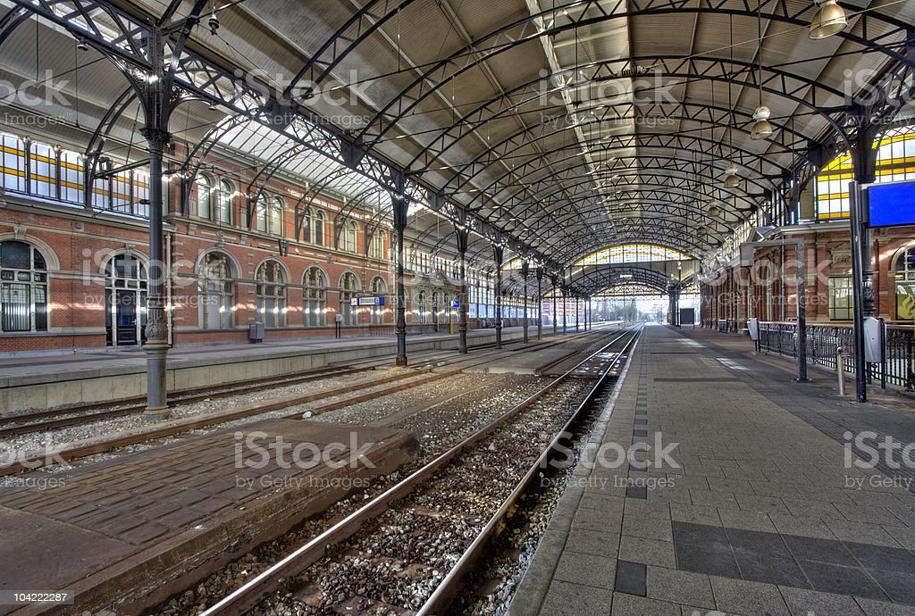 Railway Station Holland Spoor stock photo