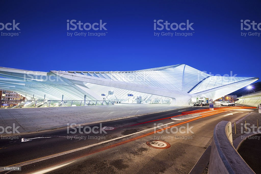 Railway Station in Liege, Belgium stock photo