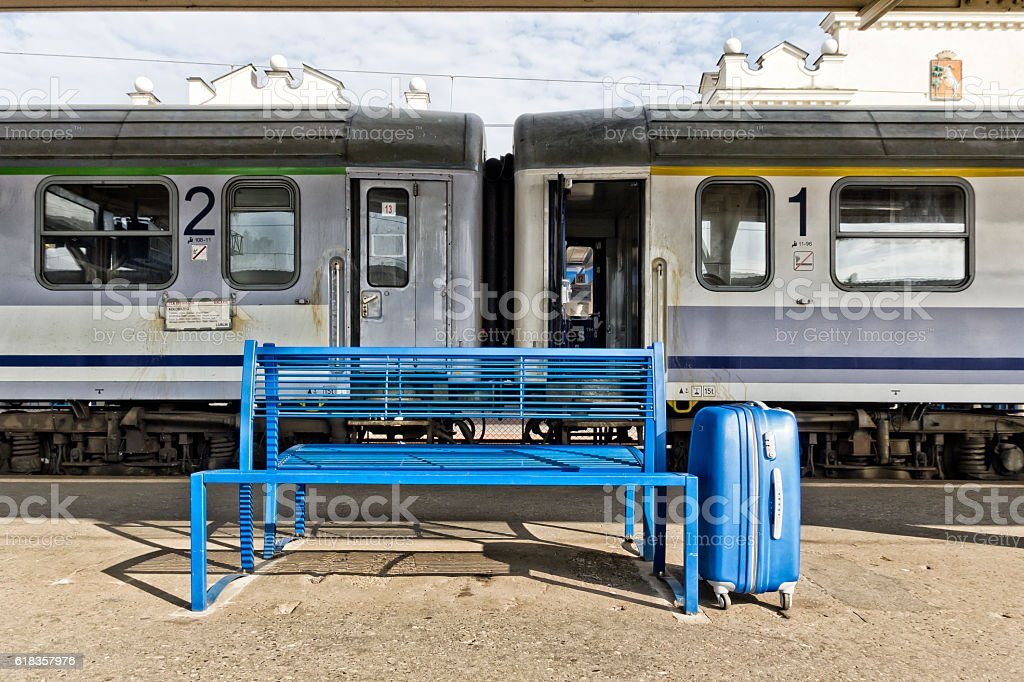 Railway station in Lublin, Poland stock photo