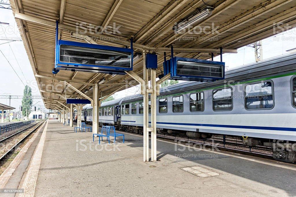 Railway station in Lublin, Poland stock photo