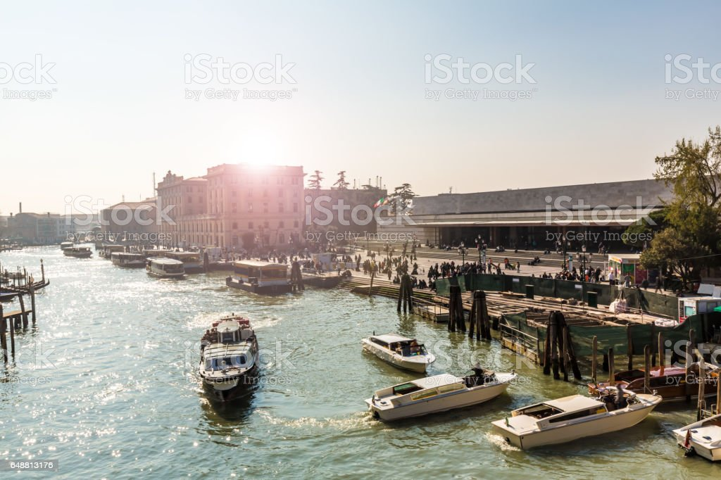 Railway Station in Venice stock photo
