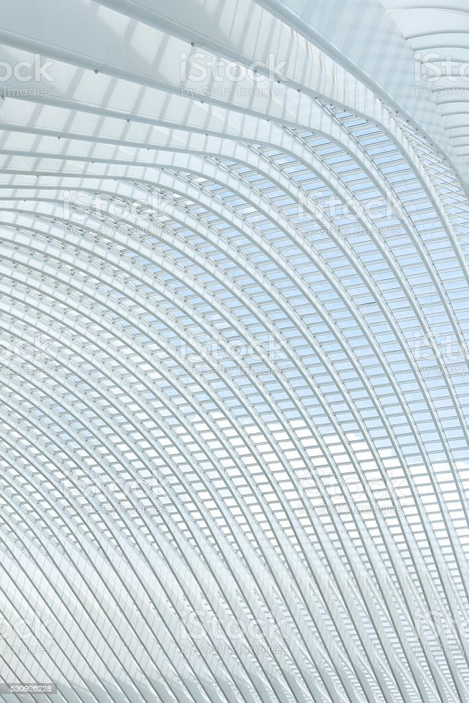 Railway Station Liege-Guillemins, Belgium stock photo