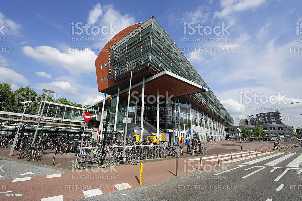 Railway station of Maarssen in the Netherlands stock photo