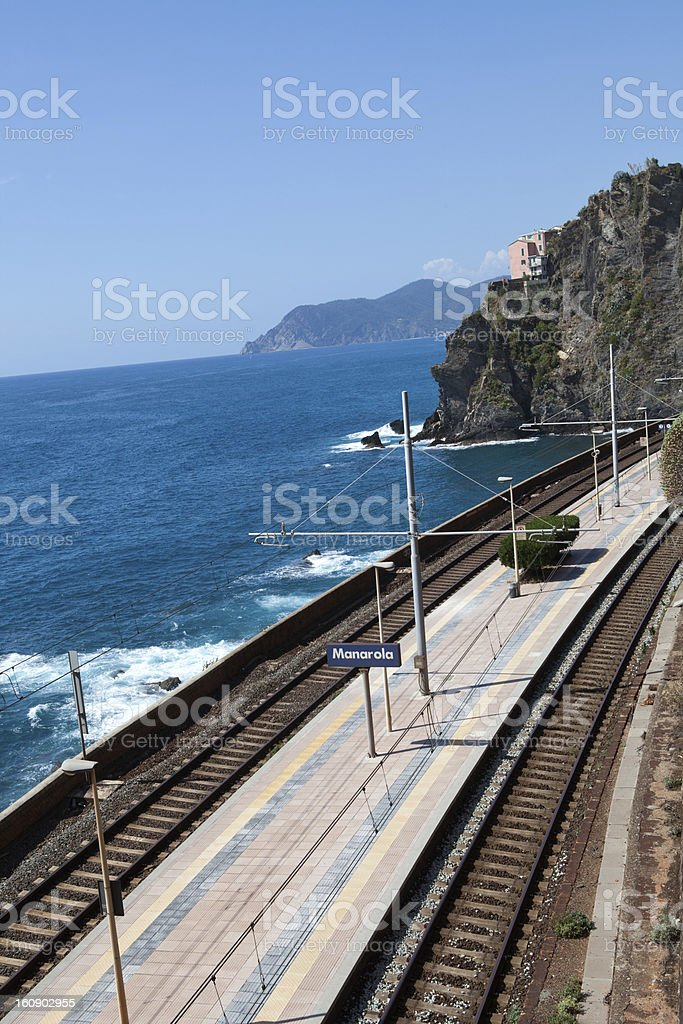 railway station of Manarola royalty-free stock photo