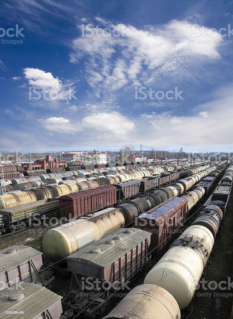 Railway station royalty-free stock photo
