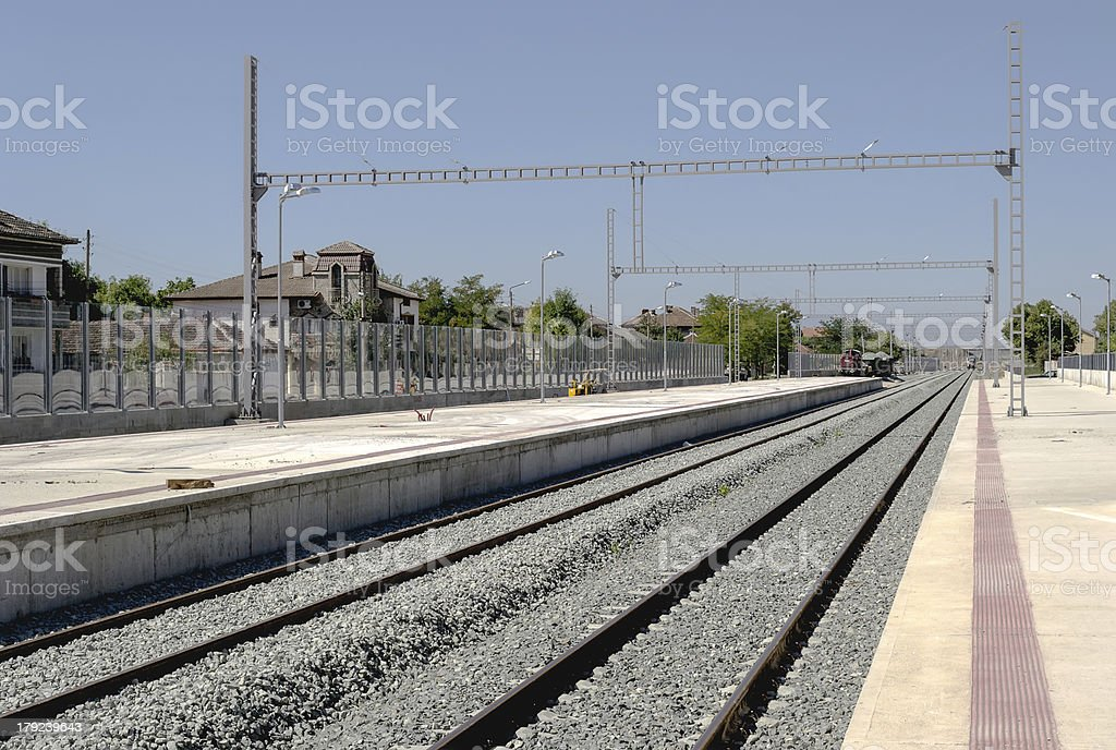 Railway station royalty-free stock photo