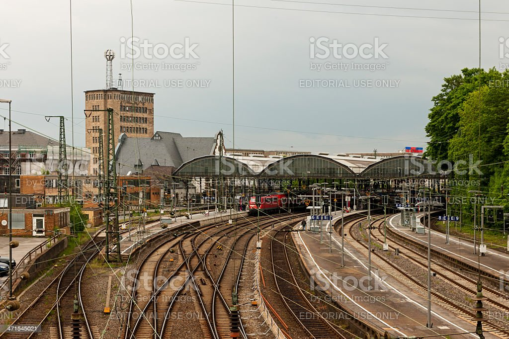 Railway station stock photo