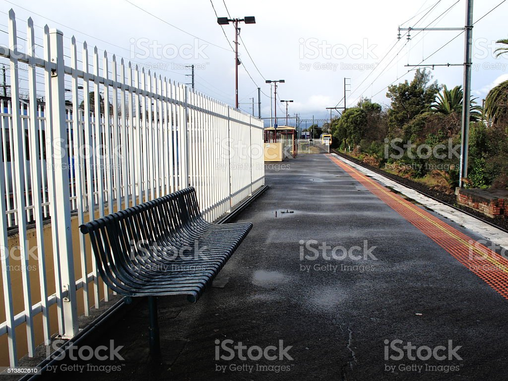 Railway Station Platform stock photo