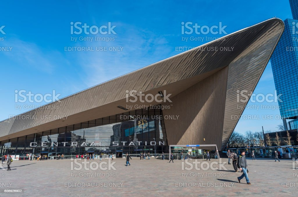 Railway Station Rotterdam stock photo