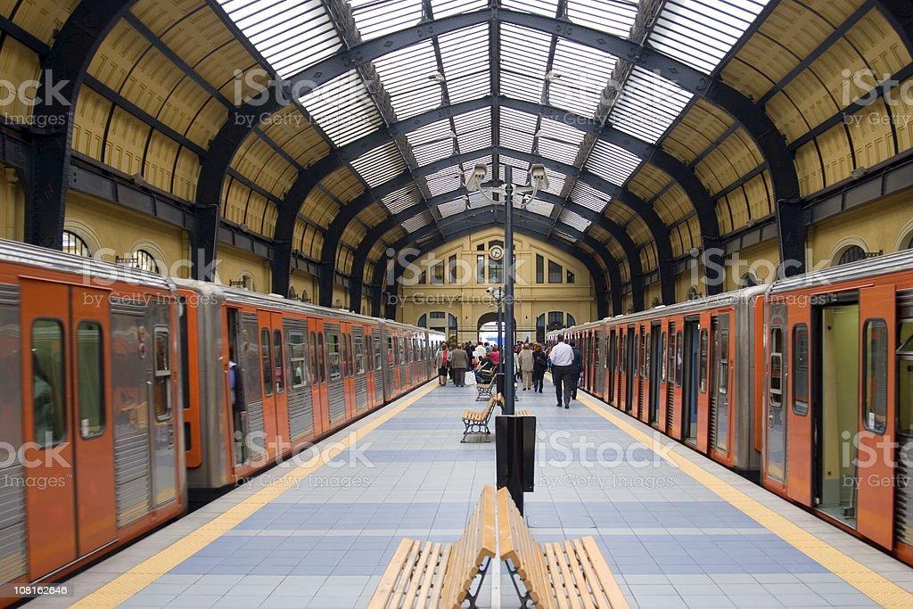Railway station symmetry royalty-free stock photo