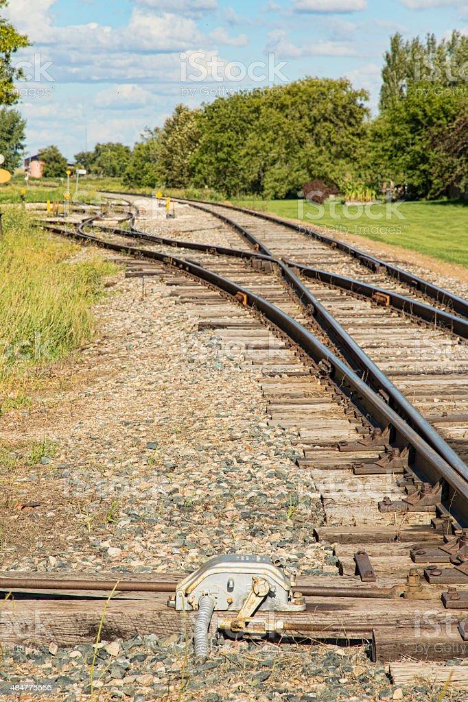 Railway Switches, Tracks and Ties stock photo