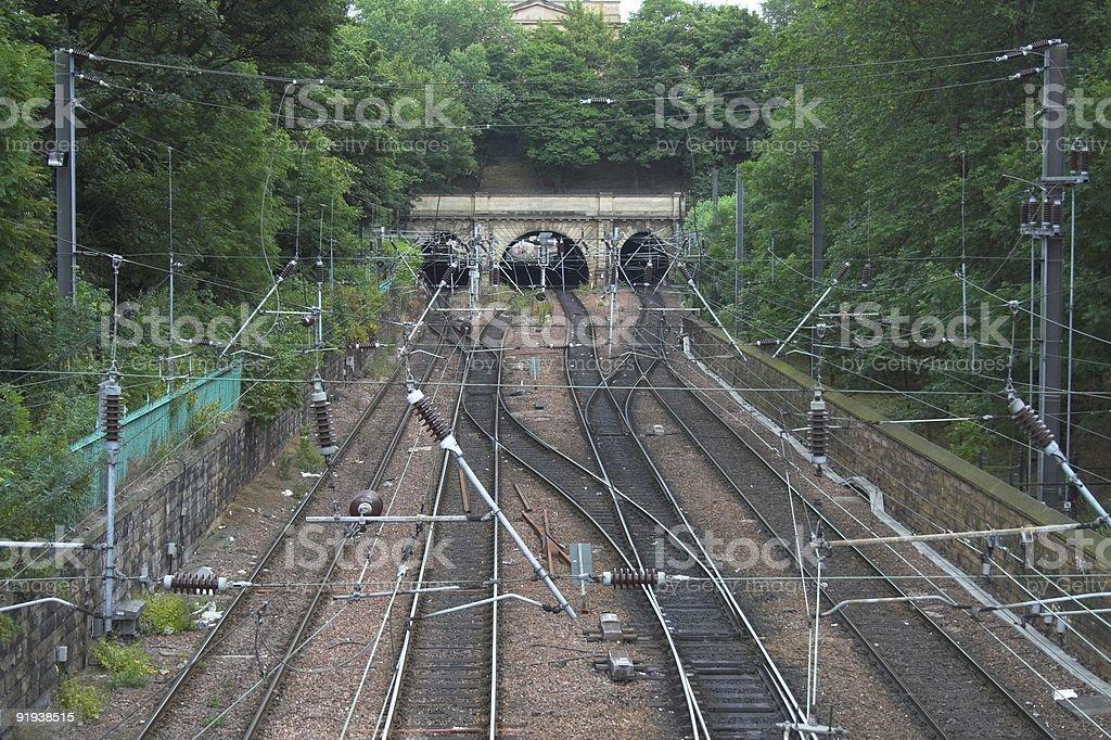 Railway system, edinburgh stock photo