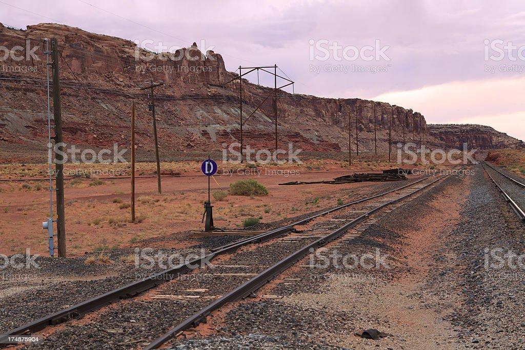 railway through canyons royalty-free stock photo