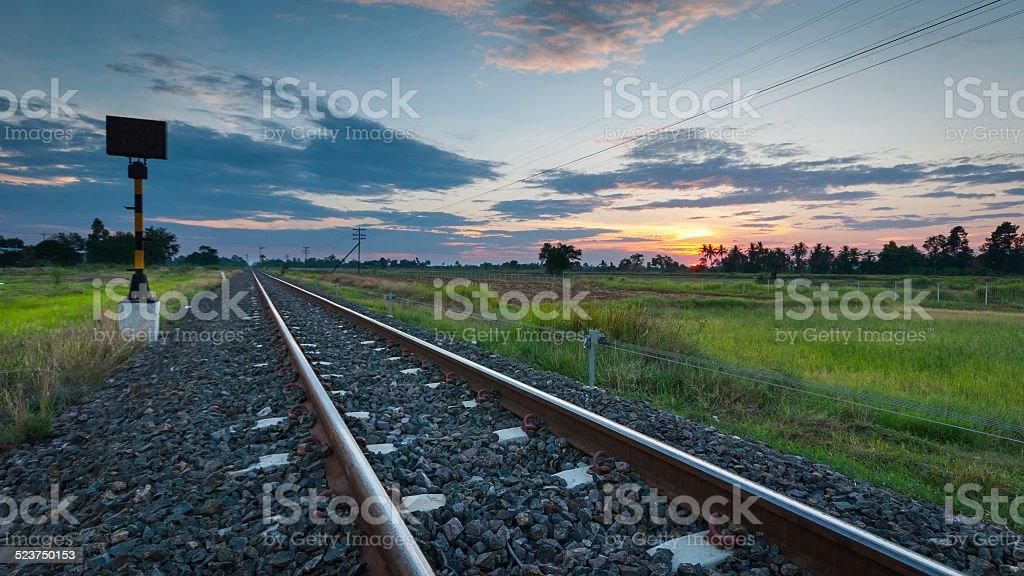 Railway to nature royalty-free stock photo