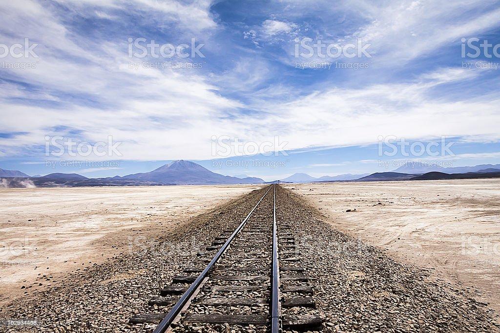 Railway to nowhere stock photo