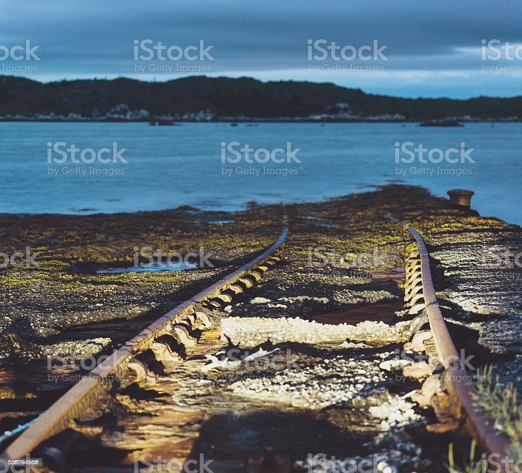 Railway to the Sea stock photo