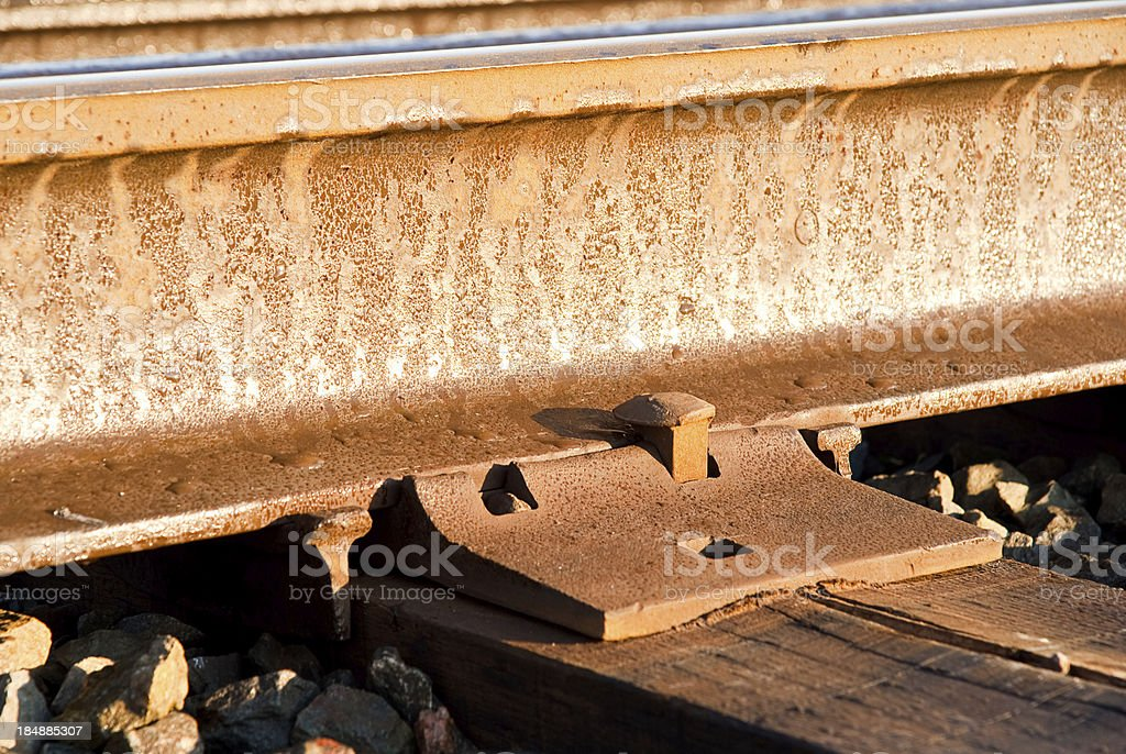 Railway Track at Sun Rise royalty-free stock photo
