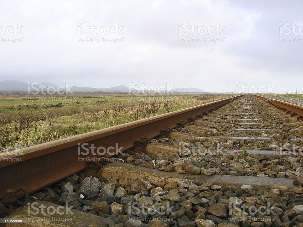 Railway track into the distance royalty-free stock photo