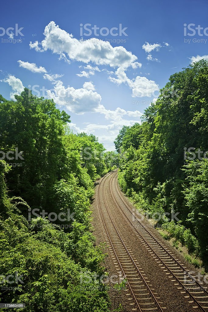 Railway Track royalty-free stock photo