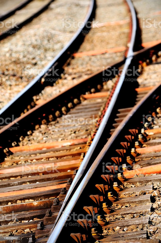 Railway Track Points royalty-free stock photo