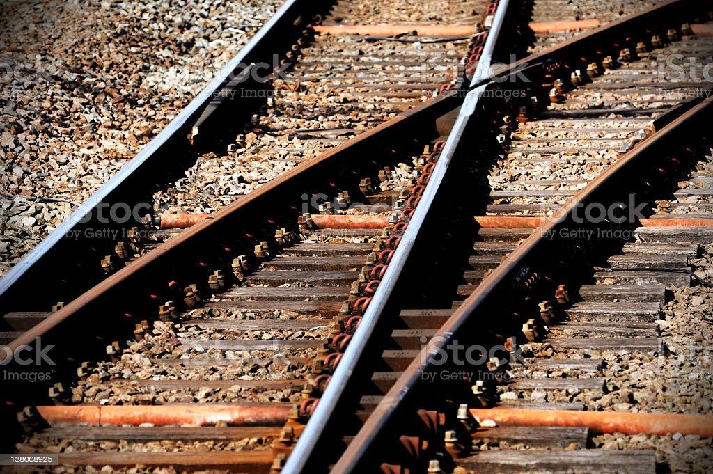Railway Track Points royalty-free stock photo
