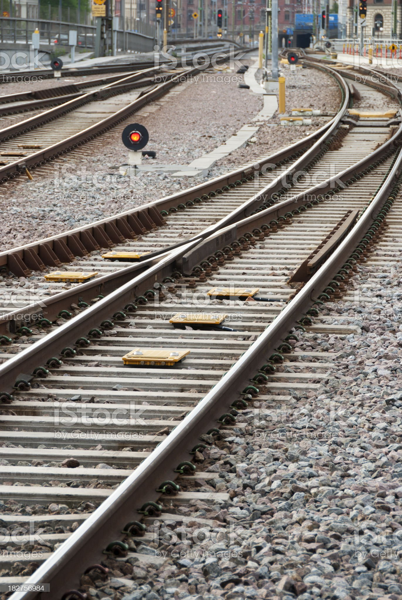Railway Tracks and Switch royalty-free stock photo