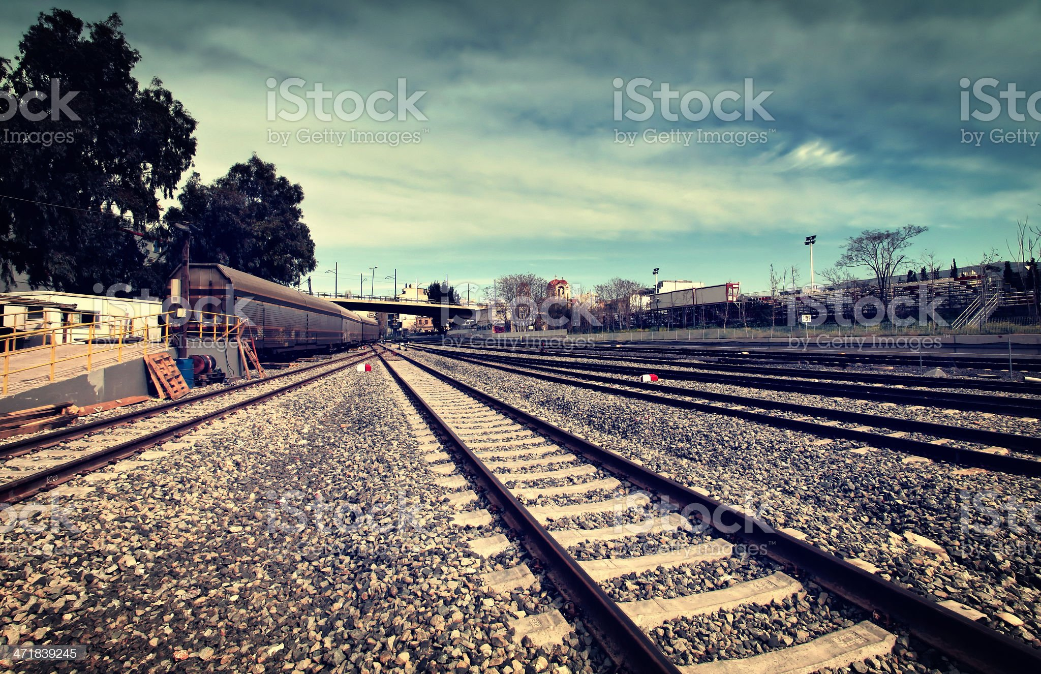 Railway tracks royalty-free stock photo