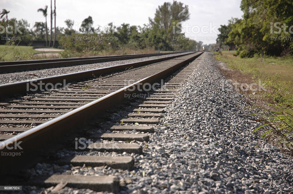 railway tracks to the end royalty-free stock photo
