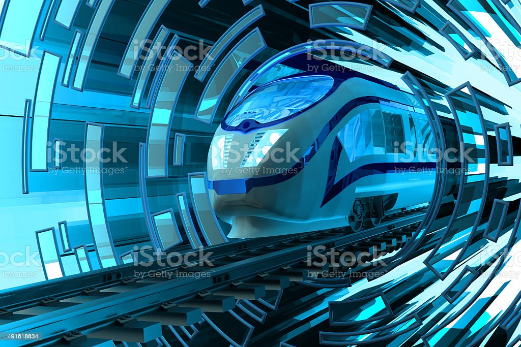 Railway transportation concept stock photo