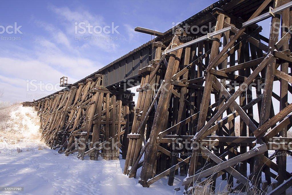 Railway Trestle stock photo