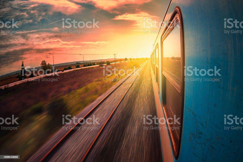 Railway trip stock photo