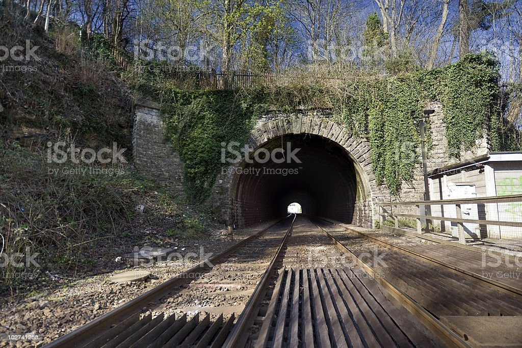 Railway Tunnel stock photo