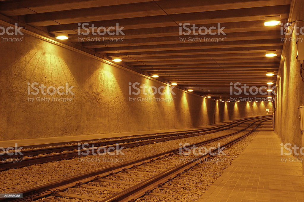Railway tunnel royalty-free stock photo
