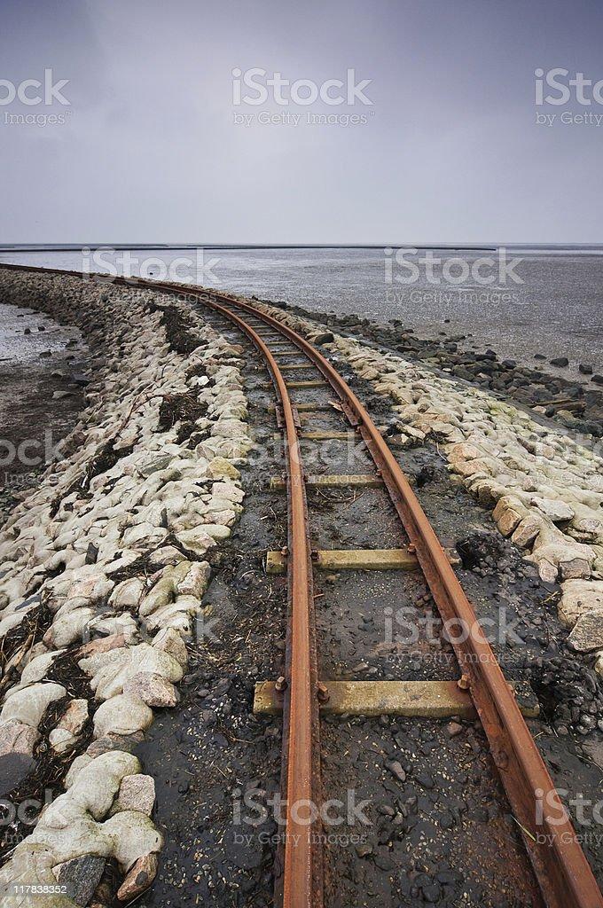 Railway Vertical royalty-free stock photo