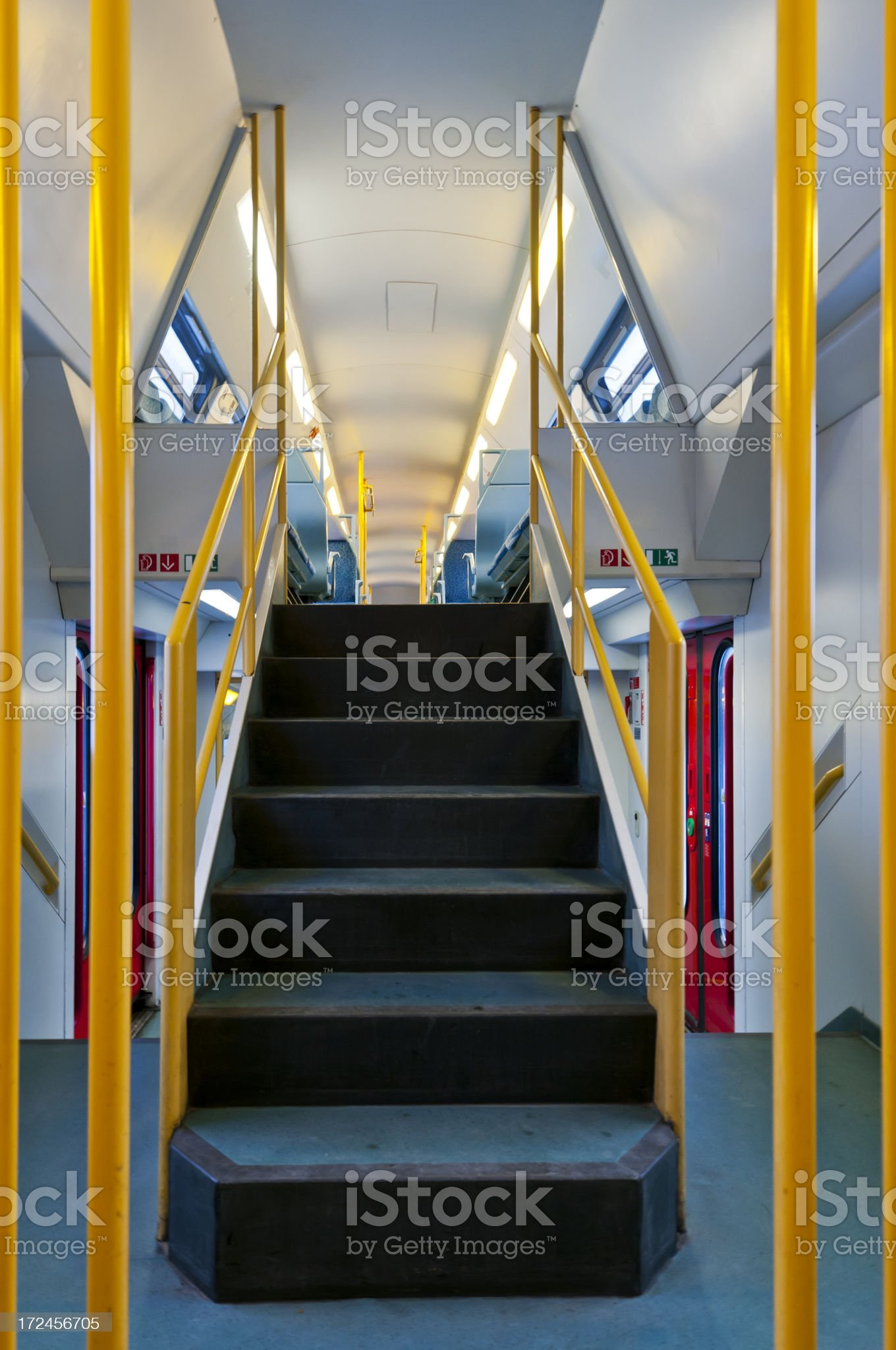Railway wagon from the inside royalty-free stock photo