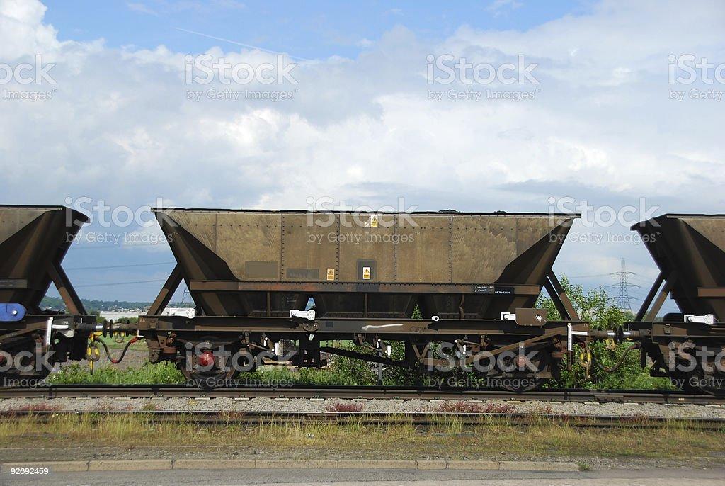 Railway Wagon stock photo
