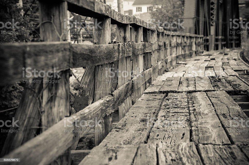 Railway walk stock photo