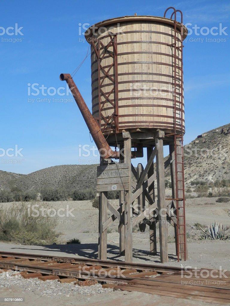 Railway Water Tower stock photo