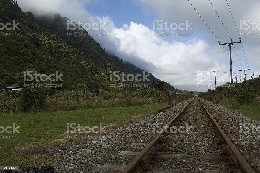 NZ Railway, West Coast stock photo