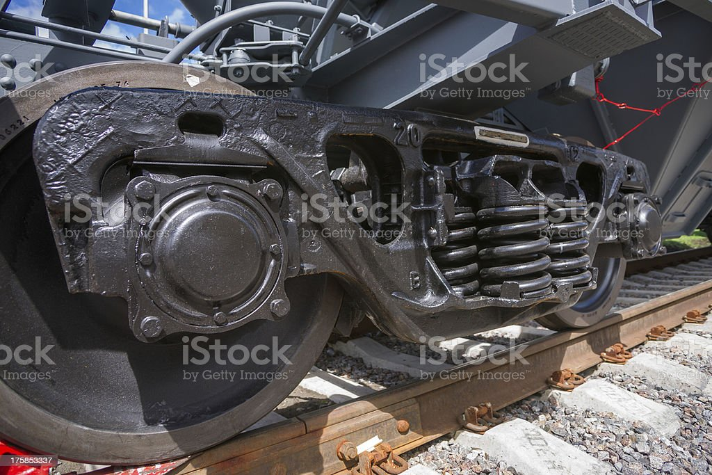 Railway wheelset stock photo