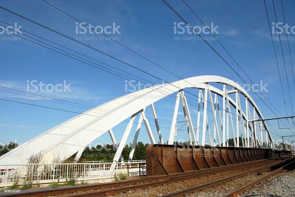 Railway-bridge royalty-free stock photo