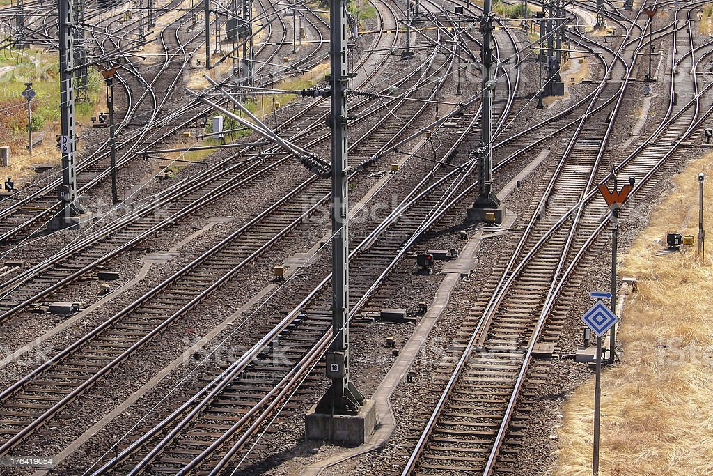 railways and power lines royalty-free stock photo
